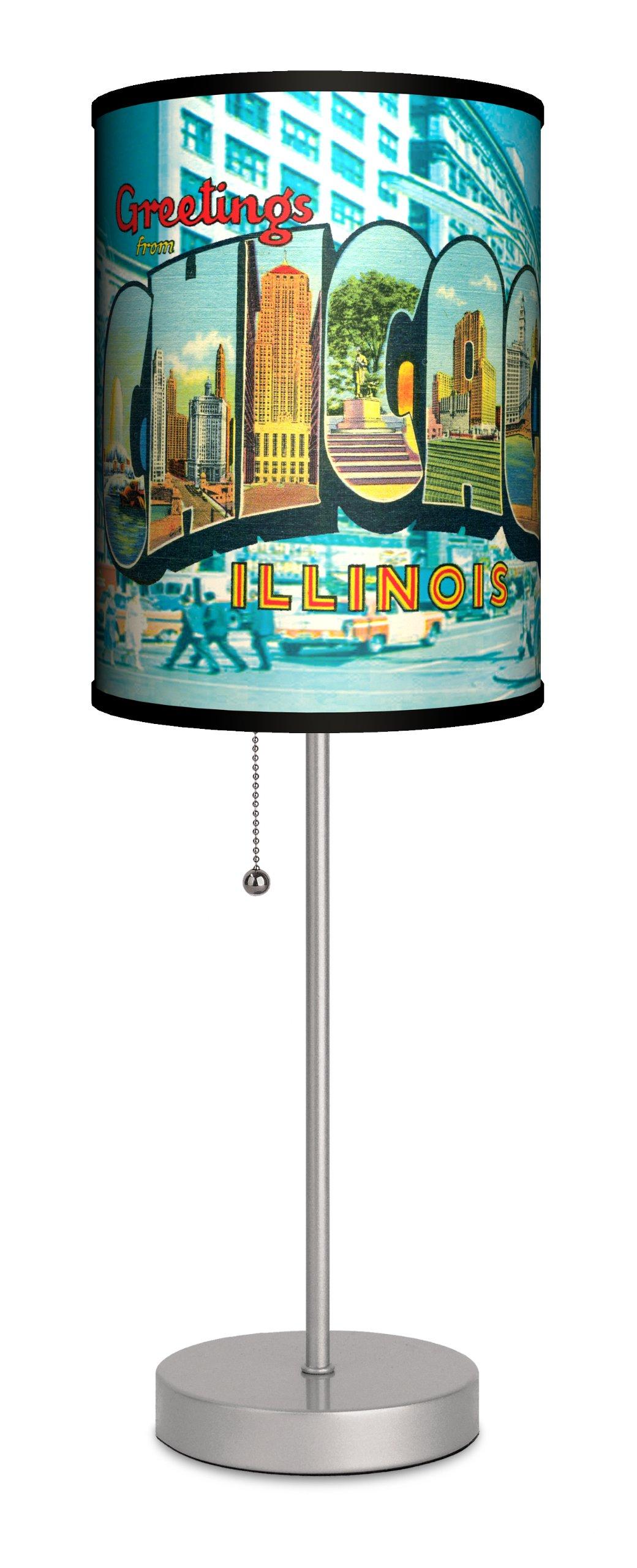 Travel - Chicago Postcard Sport Silver Lamp