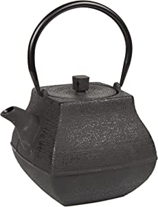 Creative Home 47 oz Cast Iron Tea Pot, Black Color