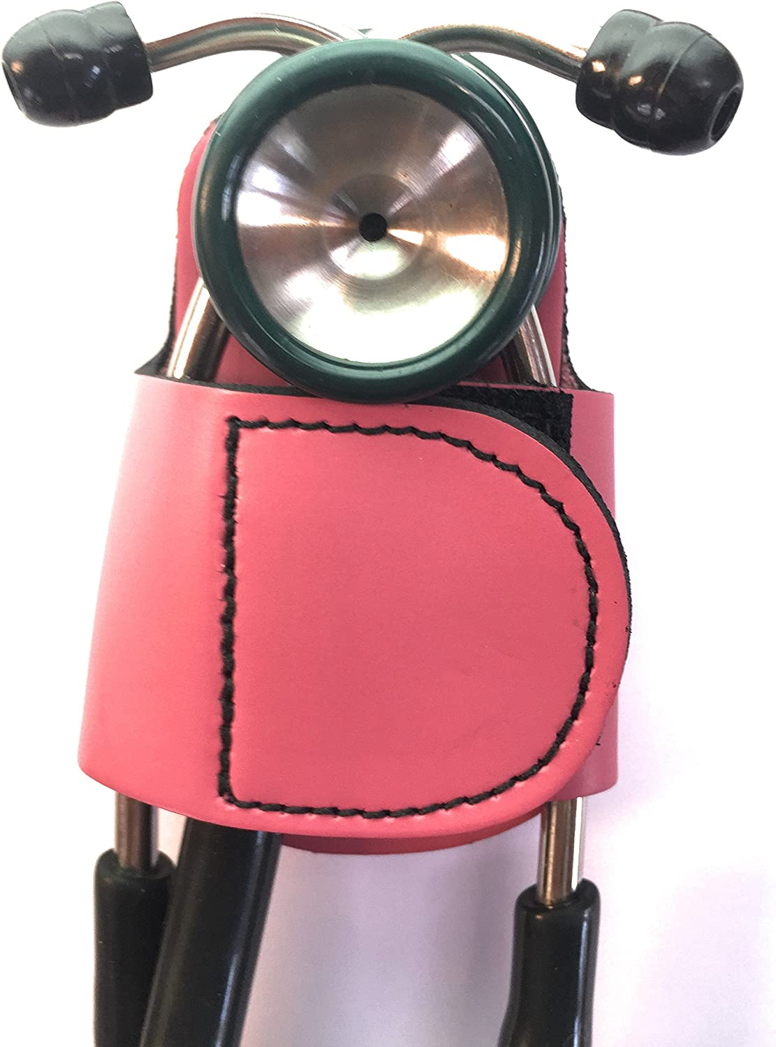 The BATCLIP PINK Premium leather handmade clip-on stethoscope hip holder no more neck carrying, loss, or misplacement. Proudly carry your high-end stethoscope with taste and style.