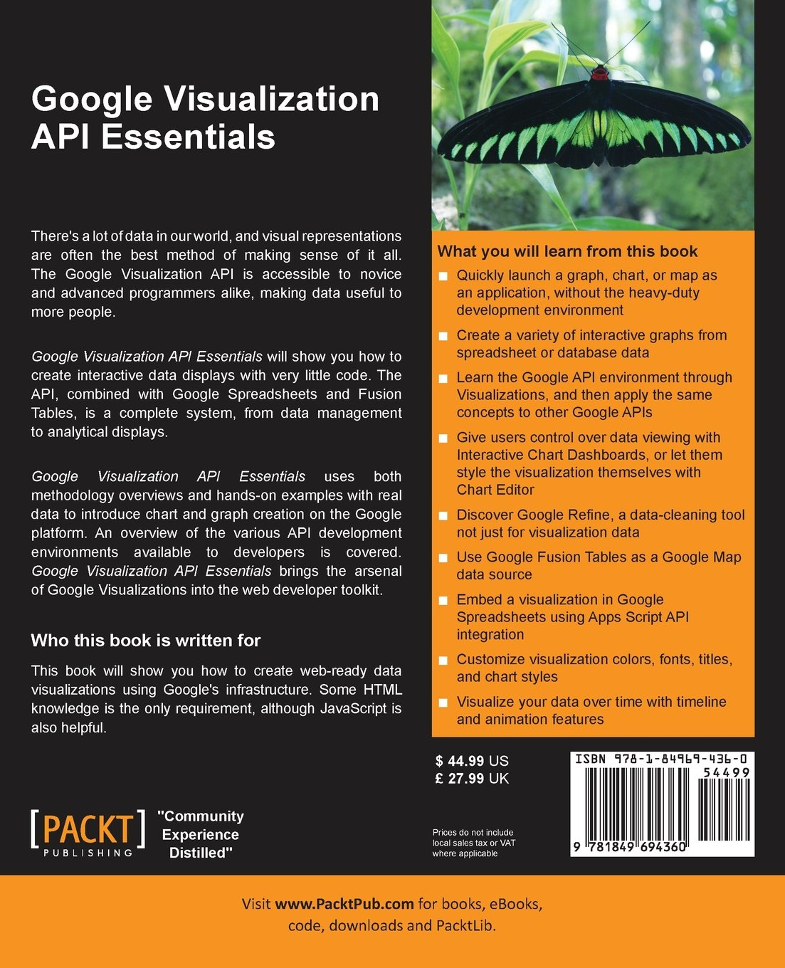 Amazon com: Google Visualization API Essentials (0884111688179