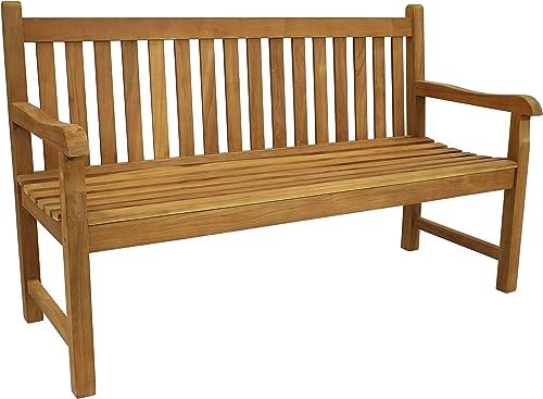 Sunnydaze Solid Teak Outdoor Bench