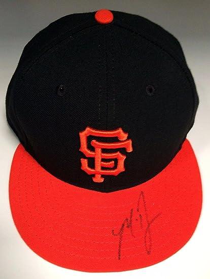 Madison Bumgarner Signed SF Giants Baseball Hat BAS B81740 - Beckett ... 91a5ff437aa2