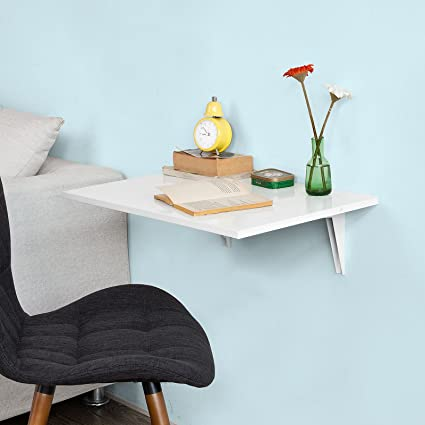 SoBuy®FWT21-W,ES Mesa de cocina, mesa plegable de pared, mesa de ...