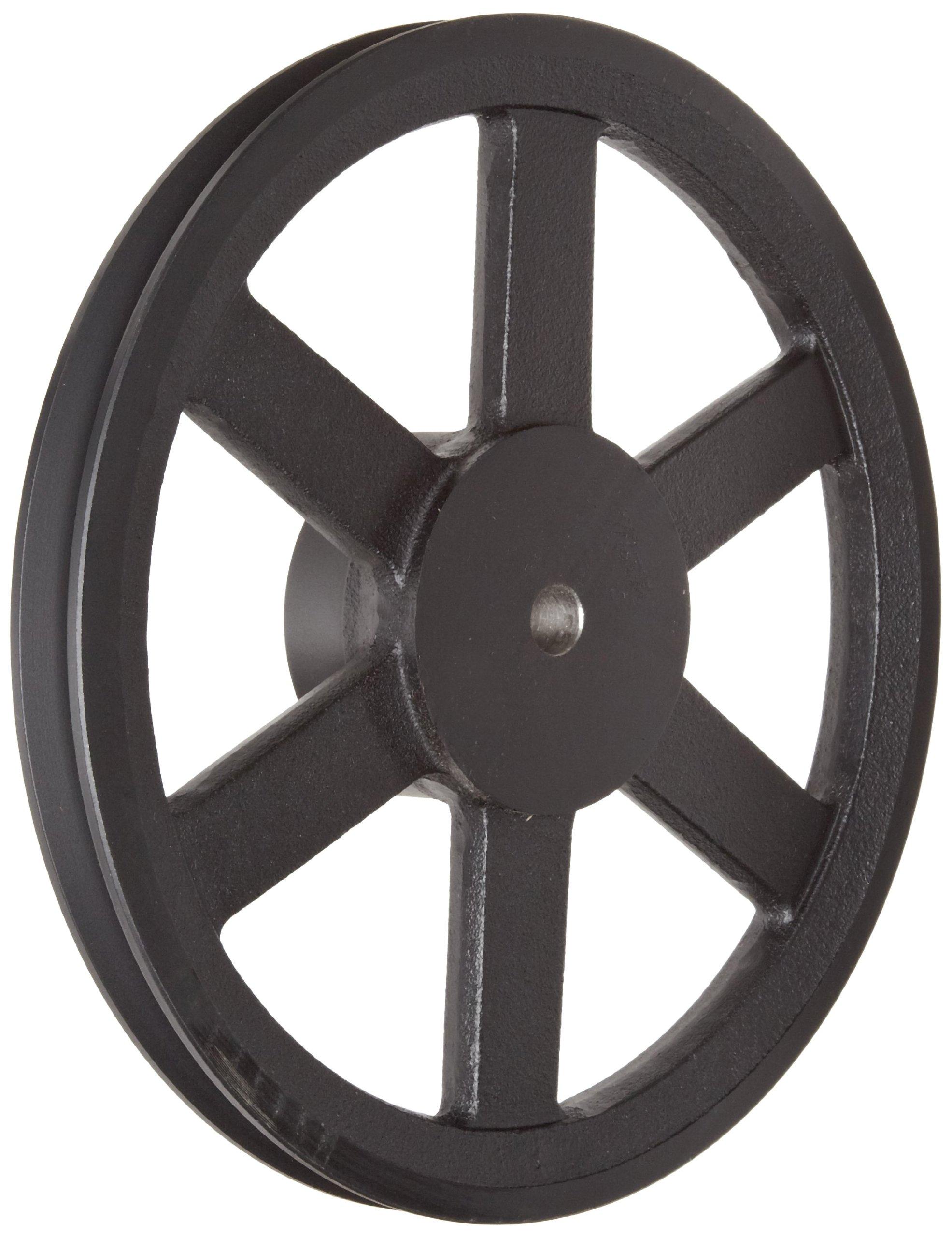 Martin AK89 P/B Plain Bore FHP Sheave, 3L/4L Belt Section, 1 Groove, 1/2'' Bore, Class 30 Gray Cast Iron, 8.75'' OD, 2835 max rpm, 8.16'' Pitch Diameter/8.5 Datum