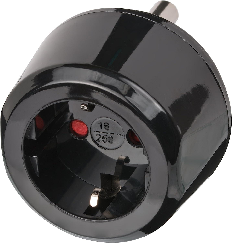 Brennenstuhl 1508460 - Adaptador internacional para Sudáfrica y India, color negro: Amazon.es: Electrónica