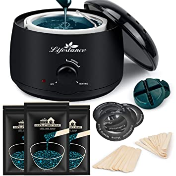Amazon Com Lifestance Waxing Kit L3 Wax Warmer Hair Removal For