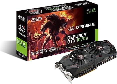 ASUS Advanced Edition - Graphics Card - GF GTX 1070 Ti - 8 GB GDDR5 - PCIe 3.0 x16 - DVI, 2 x HDMI, 2 x DisplayPort