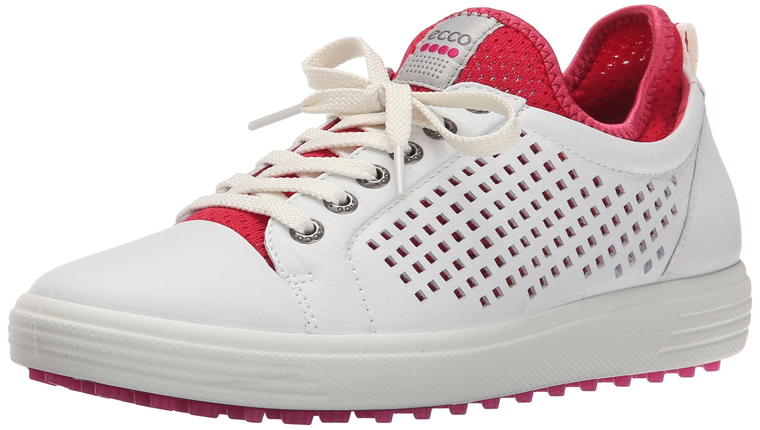 ECCO Women's Summer Hybrid Golf Shoe, White/Raspberry, 41 EU/10-10.5 M US
