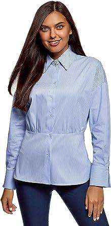 oodji Ultra Mujer Camisa Entallada