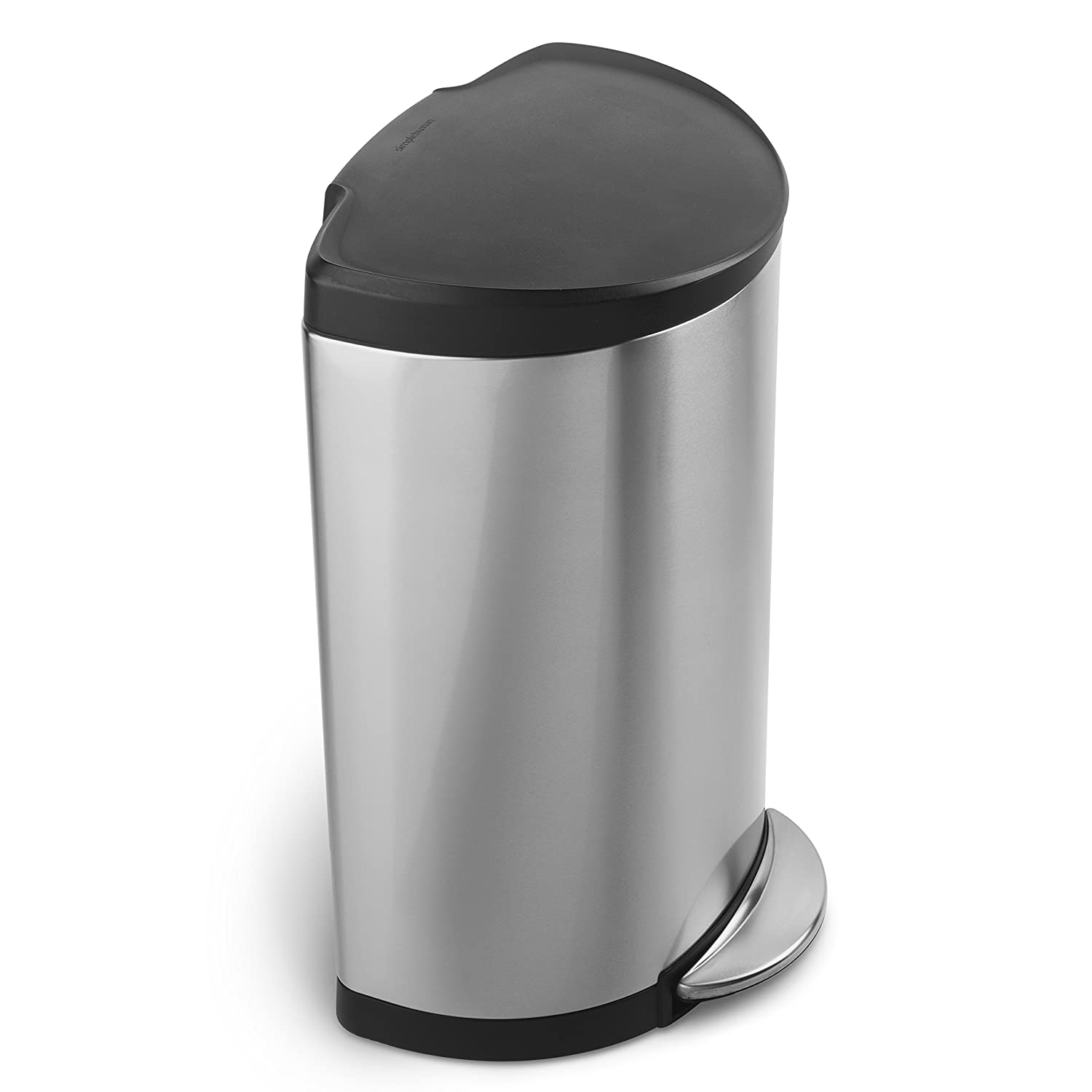 Kitchen Garbage Can Amazoncom Simplehuman Semi Round Step Trash Can Stainless Steel