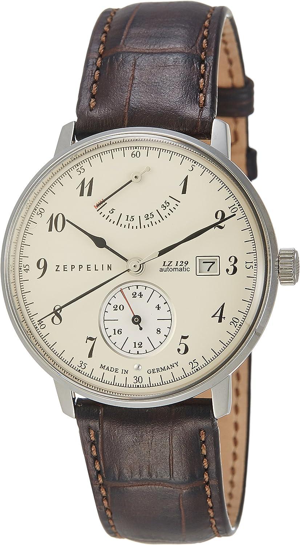 Zeppelin Reloj Analógico Automático para Hombre con Correa de Cuero – 70604