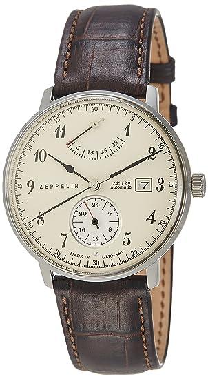 Zeppelin Reloj Analógico Automático para Hombre con Correa de Cuero - 70604: Zeppelin: Amazon.es: Relojes