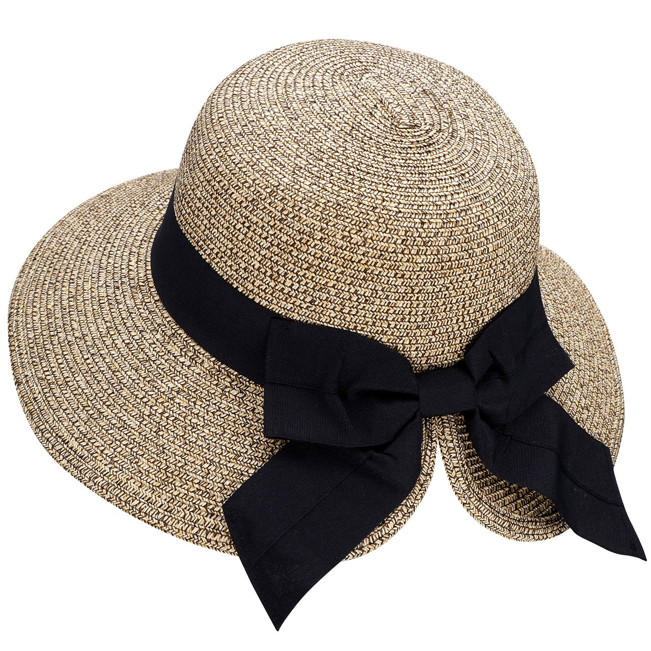 b521a6d5e8bf6 Details about Verabella Floppy Hat Women s UPF 50+ Foldable Packable Straw  Sun Beach Hat