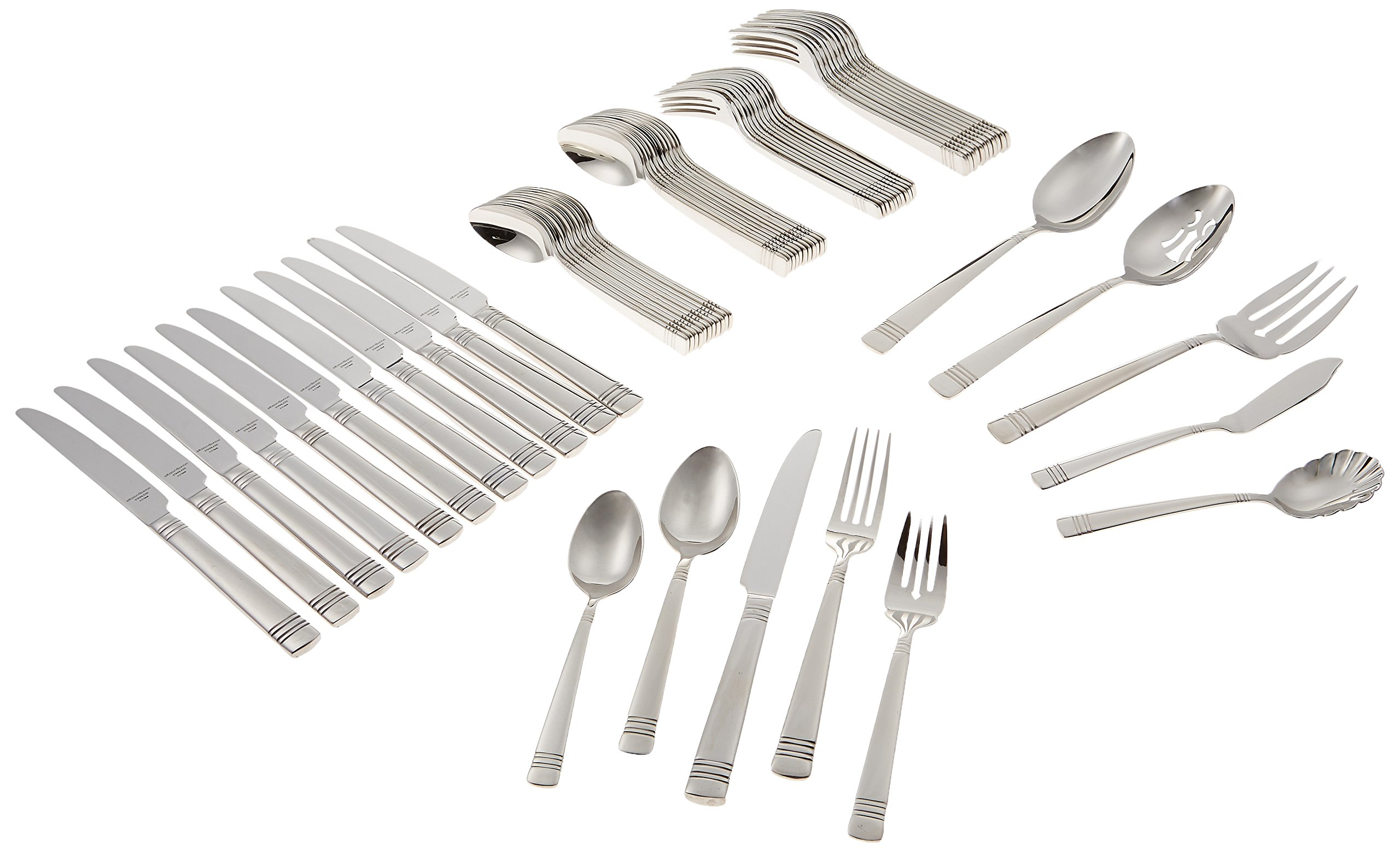 Reed & Barton Longwood II 65-Piece Stainless Flatware Set Service for 12