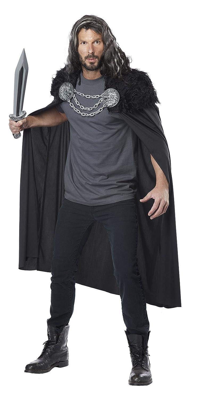 California Costumes Men's Wolf Clan Warrior Cape Black One Size 60648