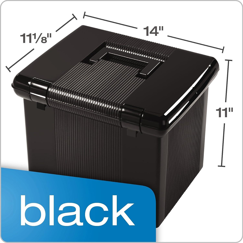 41742 Pendaflex Portable File Box Black 11H x 14 W x 11-1//8 D