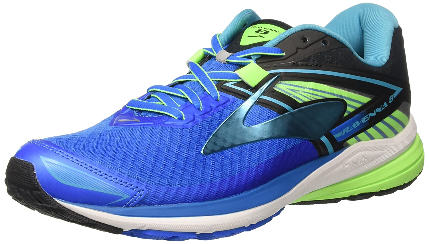 4300141e874 Brooks Men s Ravenna 8 Electric Blue Lemonade Black Green Gecko Athletic  Shoe  Buy Online at Low Prices in India - Amazon.in