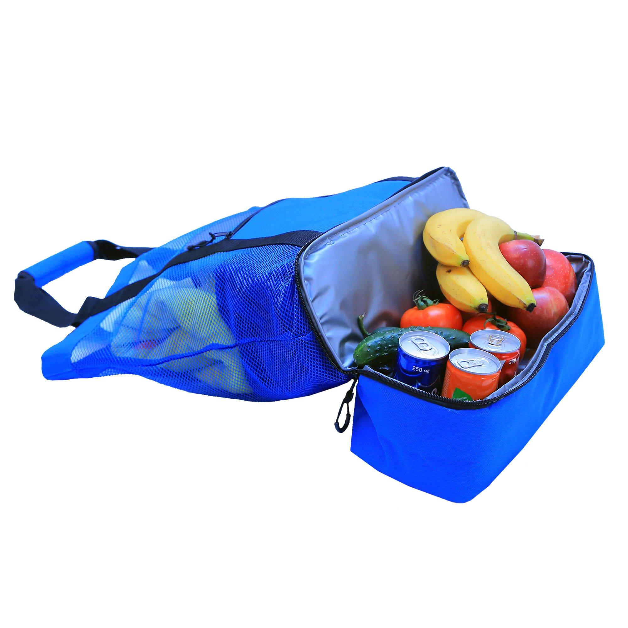 JU&JI's Beach Tote Bags – 2-in-1 Design – Mesh Bag & Built-in Picnic Cooler Compartment – Big or Extra Large Cooler Beach Bags – Padded Handle, Waterproof Zipper & Heavy-Duty Build by Ju&Ji (Image #4)