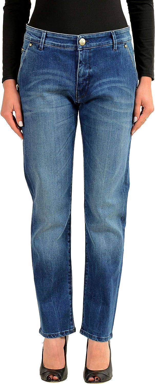 Versace Jeans Gray Women/'s Straight Leg Jeans Sz 4 5 6 8 9