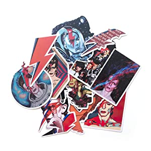 12 Pcs David Bowie Inspired Sticker Decals Scrapbooking Stickers for DIY Luggage Laptop Skateboard Car Stickers