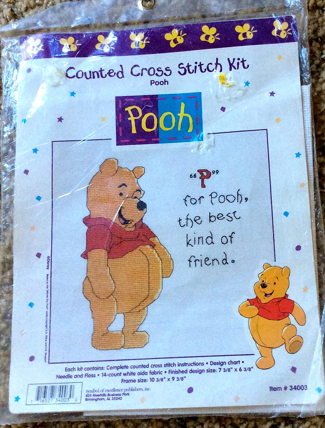Amazon Pooh And The Honey Bee Counted Cross Stitch Kit 34005 By