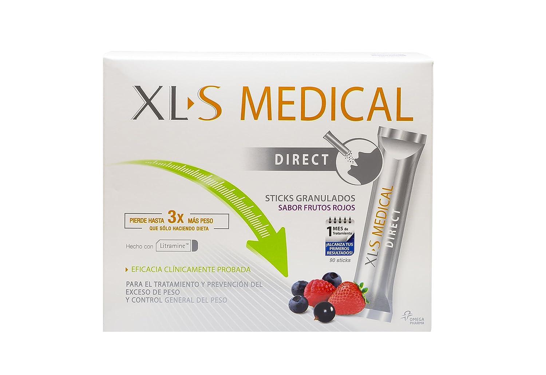 XLS-Medical Direct Captagrasas - 90 sticks (1 mes) - Producto Sanitario para el tratamiento y la prevención del exceso de peso y para el control ...