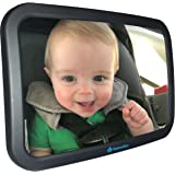 Baby Car Mirror for Infant, Rearview with Clear Reflection, Facing Back Seat, Safety Shatter-proof Frame, Safe and Adjustable, Largest Rear View of Child for Mom, Perfect Shower Gift from VentureWize