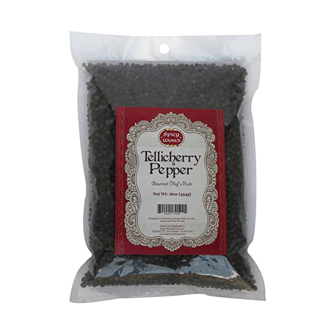 Spicy World Peppercorn (Whole)-Black Tellicher...