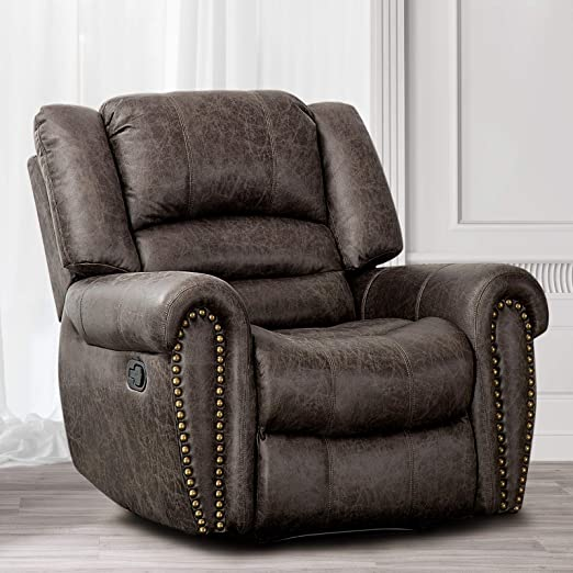 : CANMOV Leather Recliner Chair, Classic and