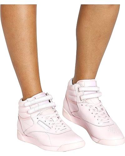 c2043c05e5d Reebok - Women s Freestyle Hi Cb BS7857 Sneakers  Amazon.co.uk  Shoes   Bags