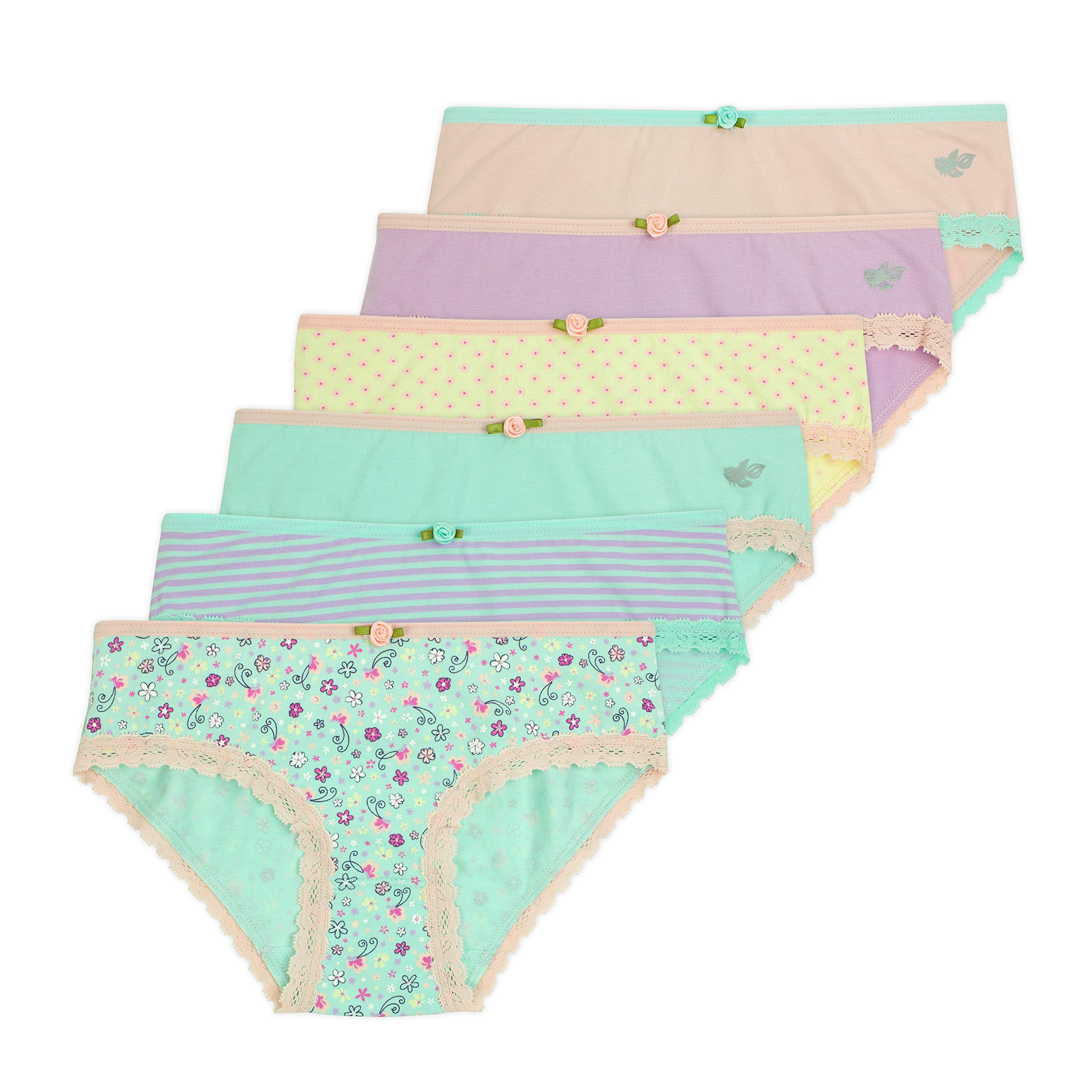 fea7c296358c Lucky & Me | Ava Little Girls Bikini Underwear | Tagless | Soft Cotton  Modal Spandex