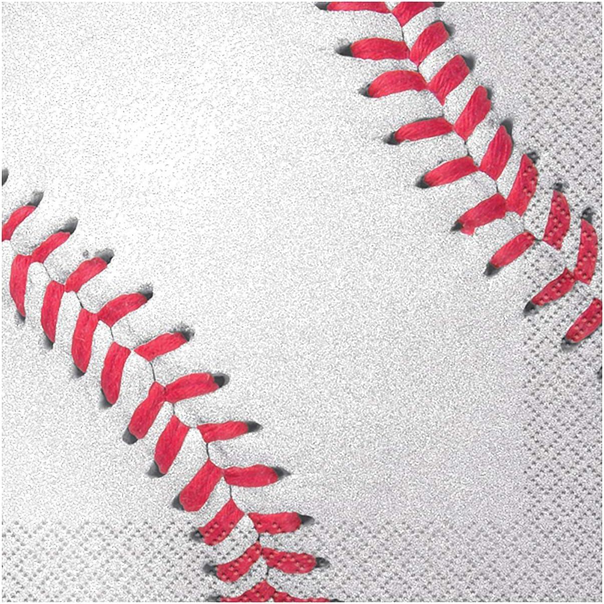 Baseball Beverage Napkins, 16ct