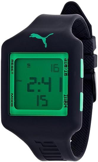 PUMA PU910791010 - Reloj digital de cuarzo unisex con correa de plástico, color negro: Amazon.es: Relojes