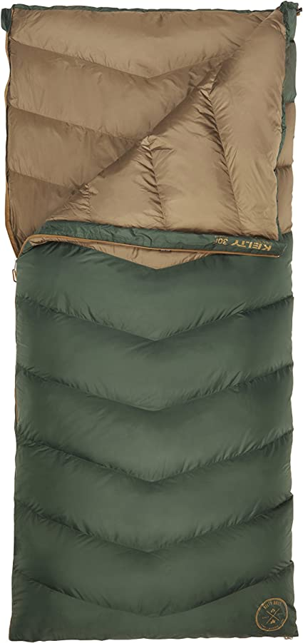 Kelty Galactic Down 30 Deg 600 Fill DriDown Backpacking and Camping Sleeping Bag for Men /& Women