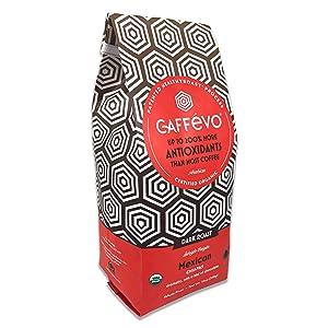Caffévo Mexican Dark Roast Certified Organic Antioxidant Coffee Whole Bean - 12oz Bag