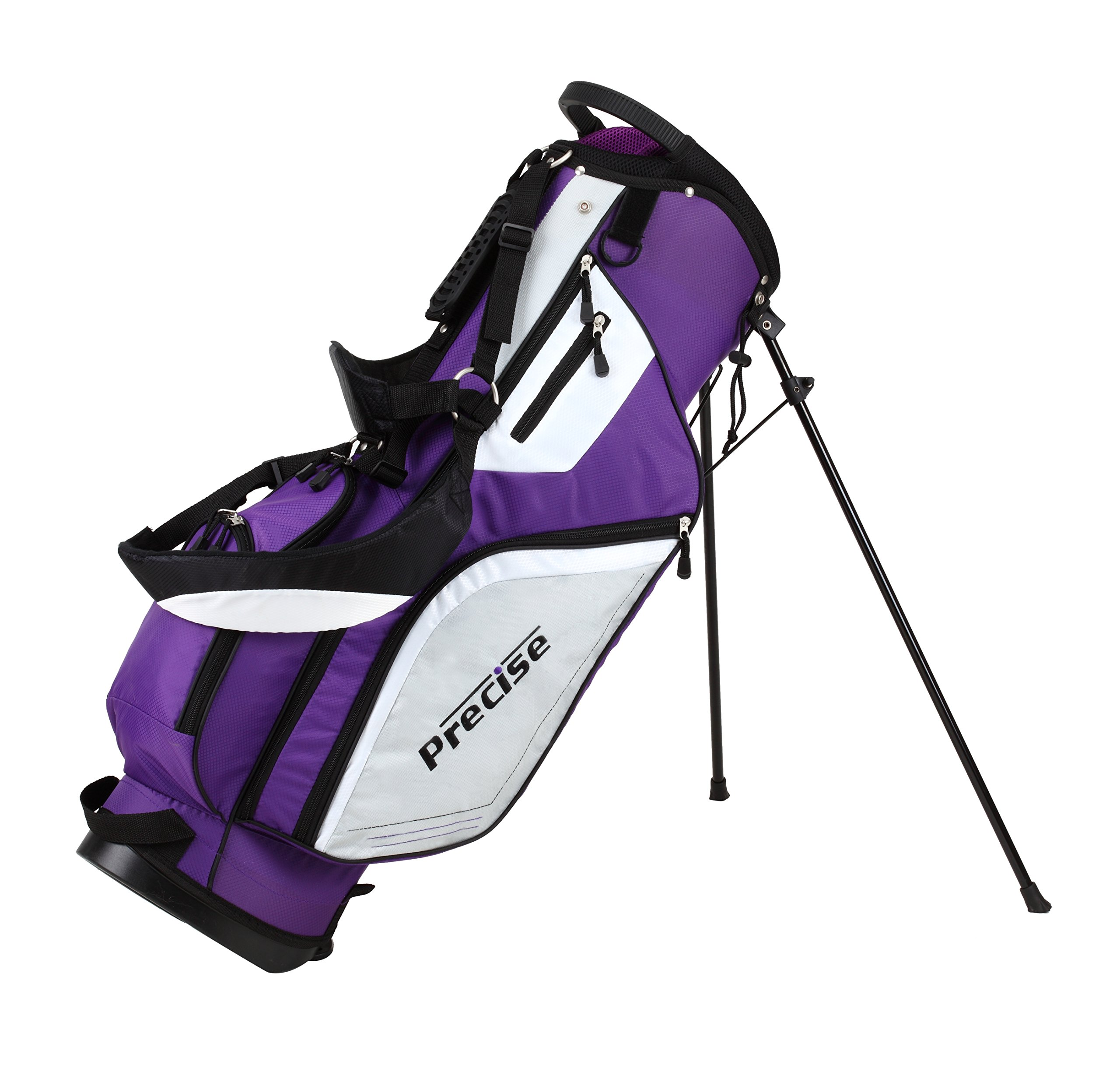 Precise M5 Ladies Womens Complete Right Handed Golf Clubs Set Includes Titanium Driver, S.S. Fairway, S.S. Hybrid, S.S. 5-PW Irons, Putter, Stand Bag, 3 H/C's Purple (Right Hand) by PreciseGolf Co. (Image #8)