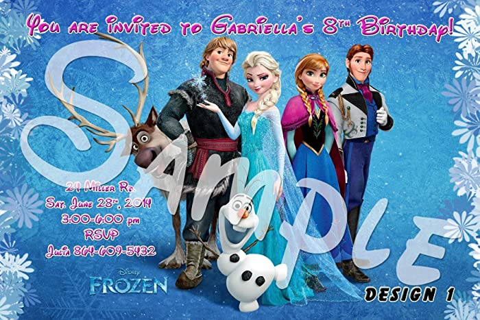 amazon com frozen personalized birthday invitations more designs