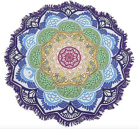 BlueBD , Toalla Manta, Playa, Yoga, Esterilla de Yoga, Lotus ...