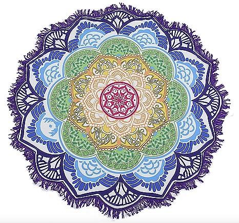 BlueBD , Toalla Manta, Playa, Yoga, Esterilla de Yoga, Lotus, Diseño