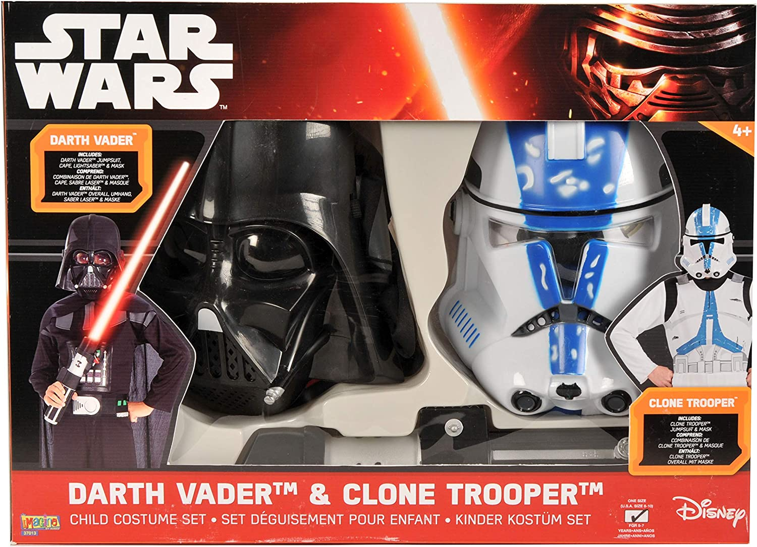Star Wars - Pack Disfraces Darth Vader y Clone Trooper, 5-7 años ...