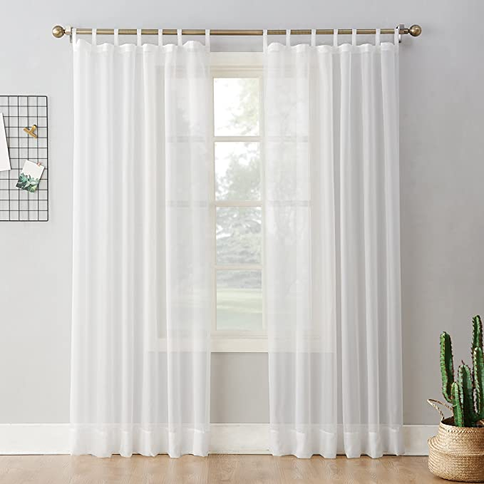Voile Tie Blinds available in 11 colours only £4.99