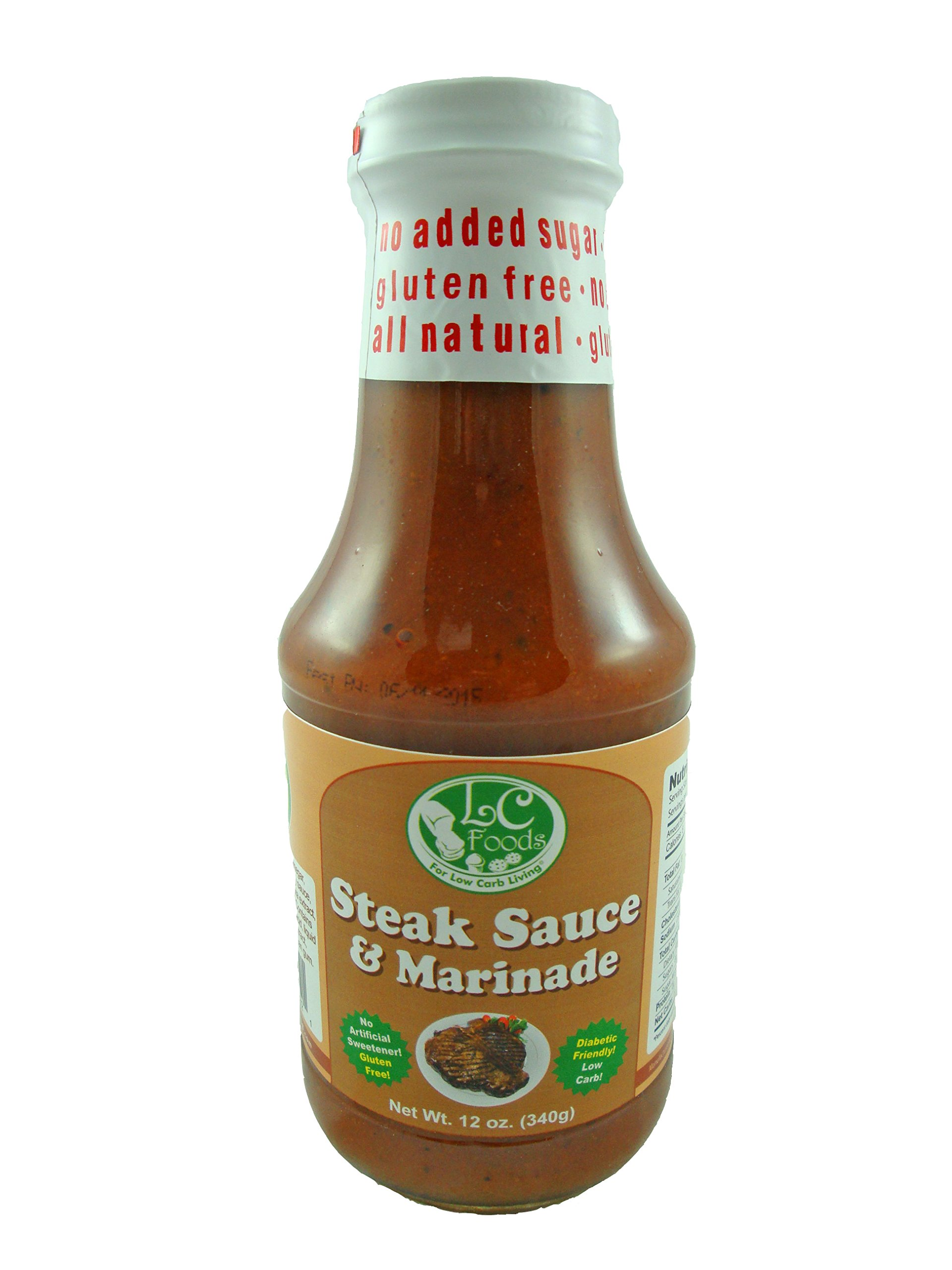 Low Carb Steak Sauce & Marinade - LC Foods - All Natural - Paleo - Gluten Free - No Sugar - Diabetic Friendly - 12 oz