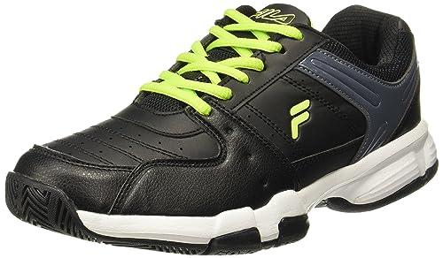 Fila Men's Baseline Black Tennis Shoes