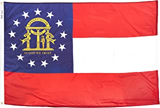 product image for Annin Flagmakers Model 141163 Georgia State Flag 4x6 ft. Nylon SolarGuard Nyl-Glo 100% Made in USA to Official State Design Specifications.