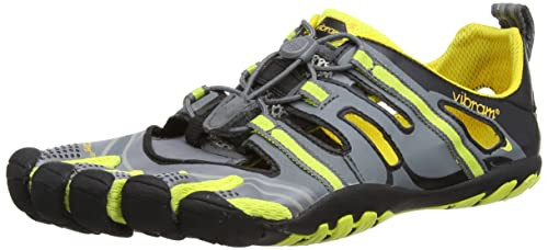 3d188fdeb1 Vibram FiveFingers Mens Treksport Sandal Hiking Shoes 13M4301 Grey Yellow  Black 12 UK