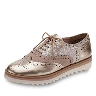 best website c2d40 ae858 Marco Tozzi 23705 Brogue Women Gold 38: Amazon.co.uk: Shoes ...