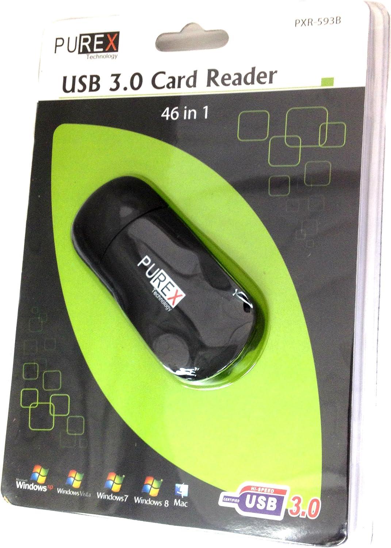 PUREX Technology 46 in 1 USB3.0 Card Reader- SD,SDHC,SDXC,MS, MMC, M2,..PXR-593B