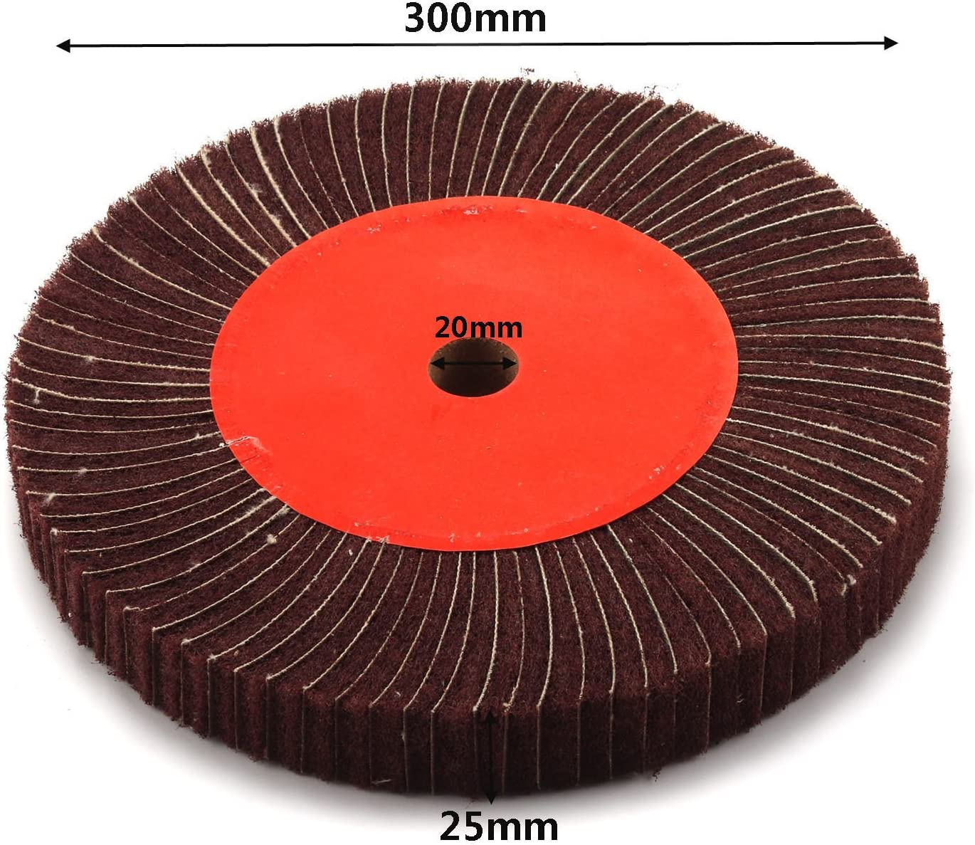 6inch Non-Woven Abrasive Grinding Flap Wheel Nylon Fiber Wheel Scouring Buffing Pad for Rotary Tool 1inch Thickness 120 Grit Green