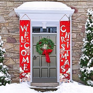 Amazon.com: Cartel de Navidad para porche, 2 unidades, para ...