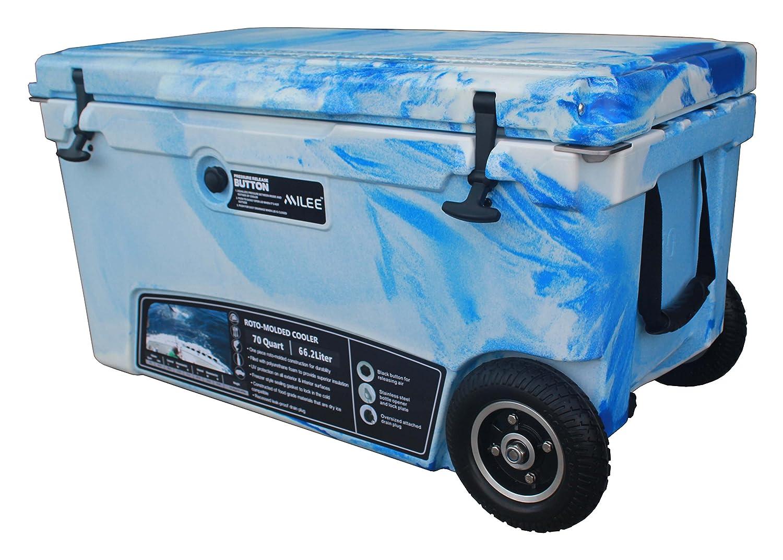 MILEE--Heavy duty Wheeled Cooler 70QT Divider best food cooler
